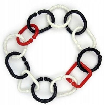 Łańcuszek czarno-białe KÓŁKA 12 SZT