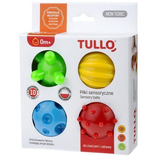 Piłki sensoryczne 4 szt gryzak jeż jeżyk zabaw