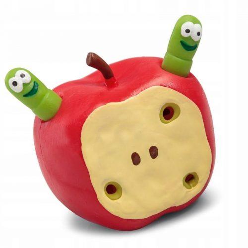 Rozciągliwe jabłko z robaczkami
