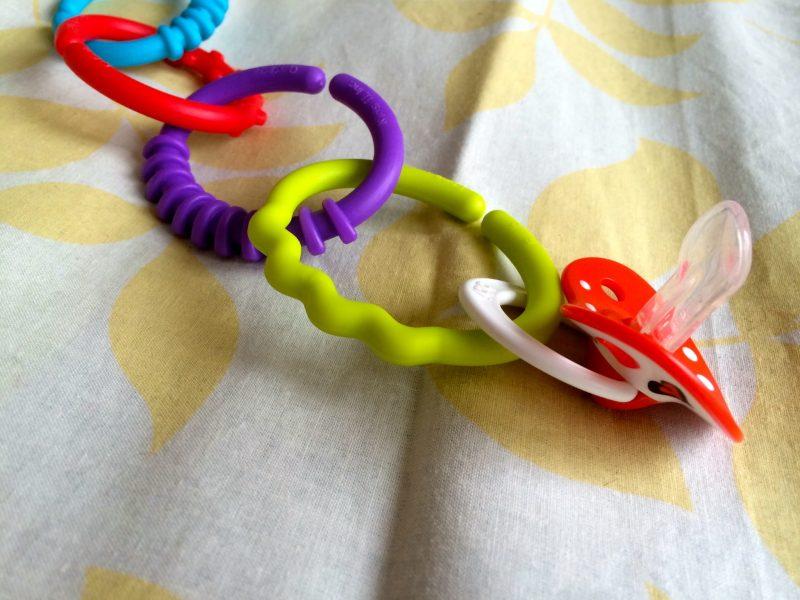 Łańcuszek KÓŁKA 24 SZT. kolorowa ZAWIESZKA zaczep