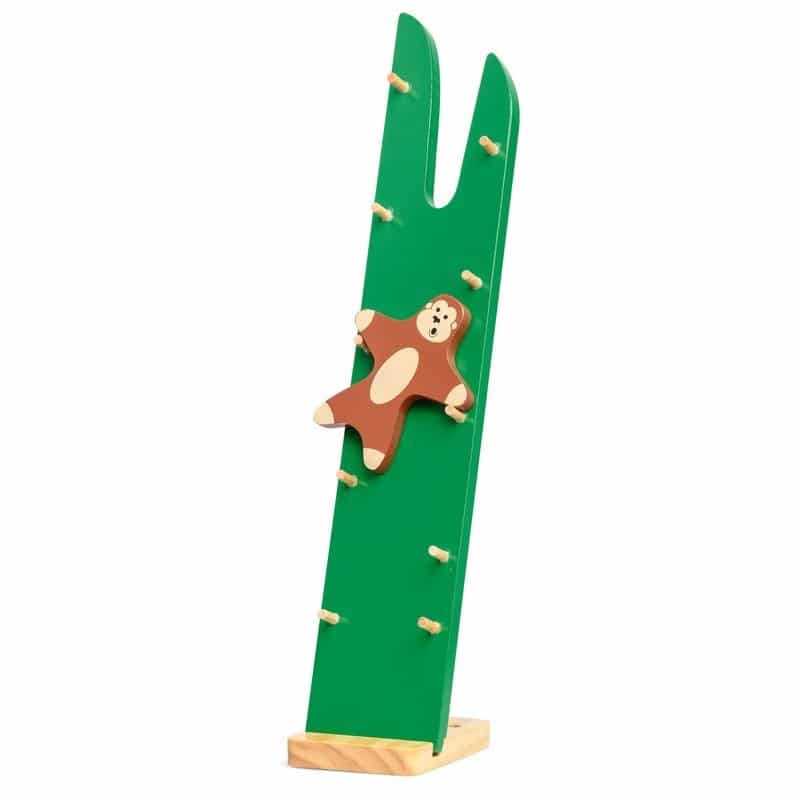Zwinna małpka drewniana